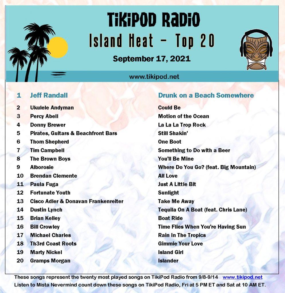 Top Reggae and Trop Rock on TikiPod Radio